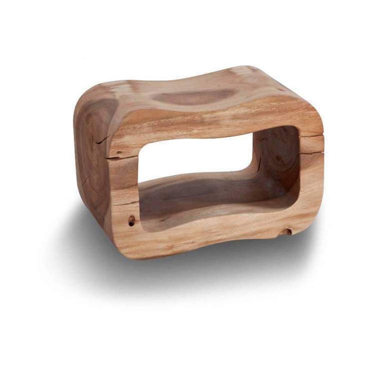 Cipi sgabello otto in legno di suar naturale trattato con for Cipi arredo bagno