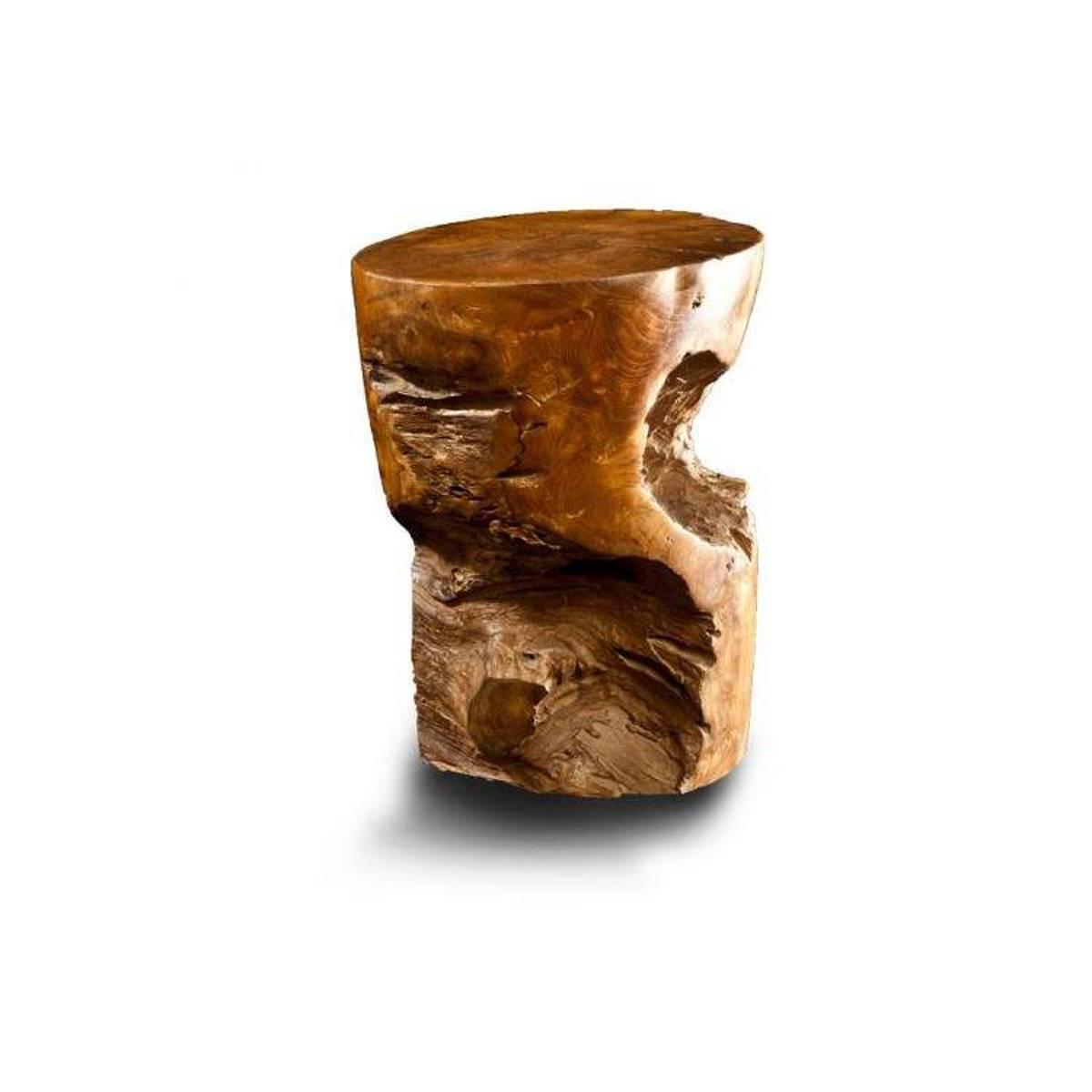 CIPI Sgabello Sarong in legno Sarong naturale trattato con cera