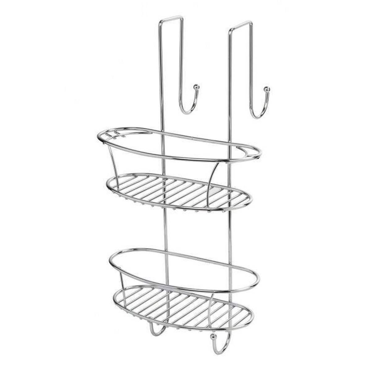 Metaform cestello doccia doppio new chrome accessori bagno finitura in acciaio quaranta store - Accessori bagno in acciaio ...