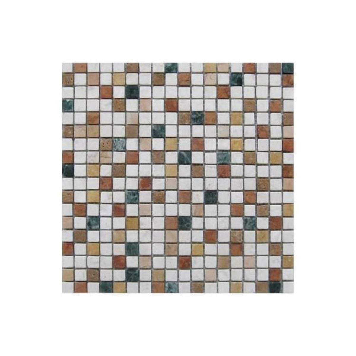 Mosaico multicolor marmo