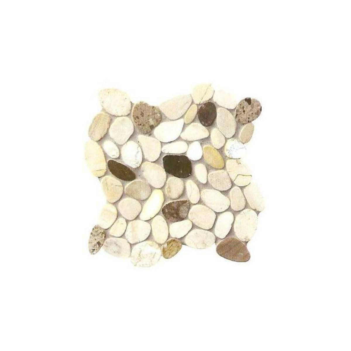 Rivestimento SASSI DI FIUME in marmo su rete