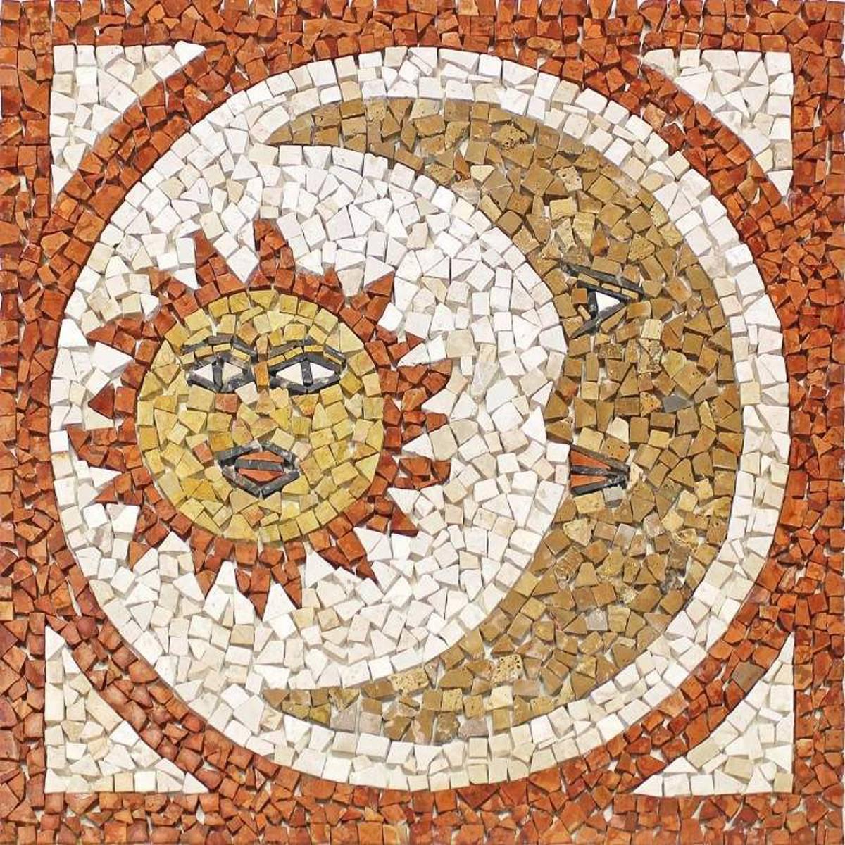 Rosoni rosone mosaico in marmo su rete per interni esterni 66x66 MAJORCA 66.61
