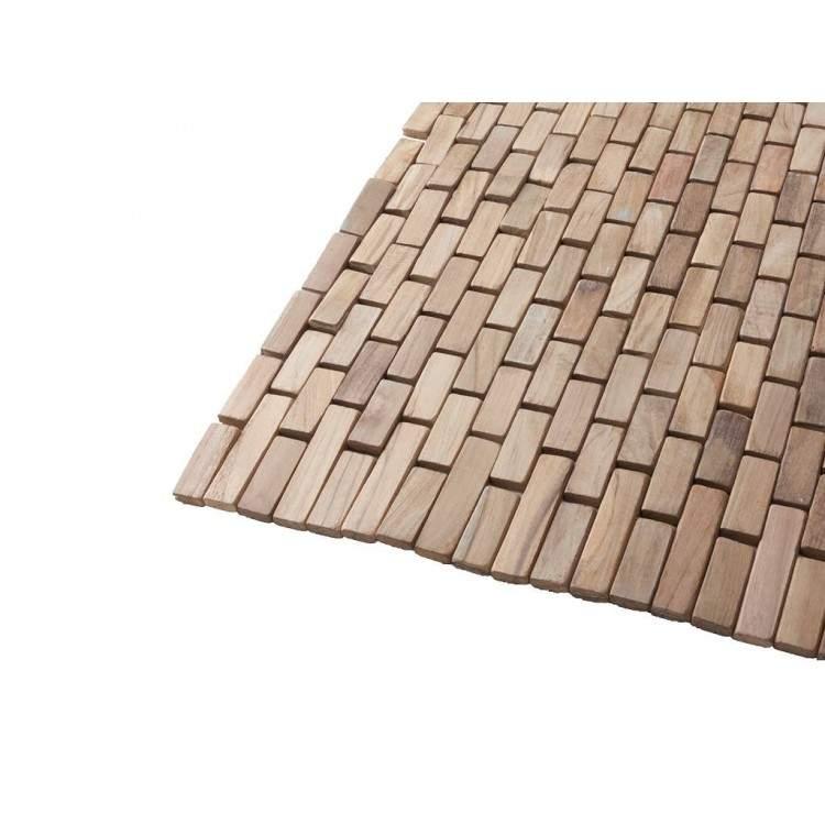 CIPI Wood Essenza Tappeto bagno in listelli di teak naturale