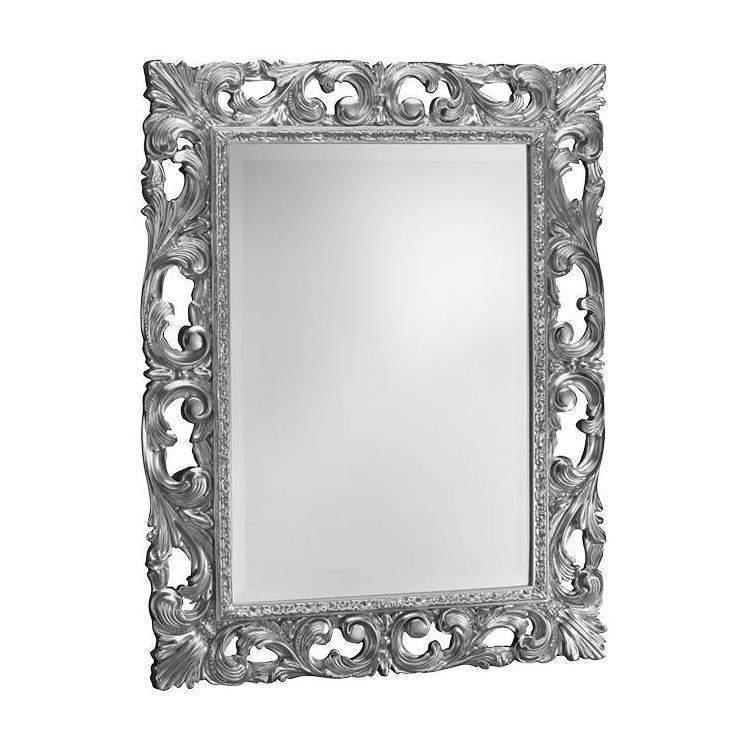 CIPI Stuart Bianco/Nero 78x98 Specchio Design Accessori Casa Legno Vetro
