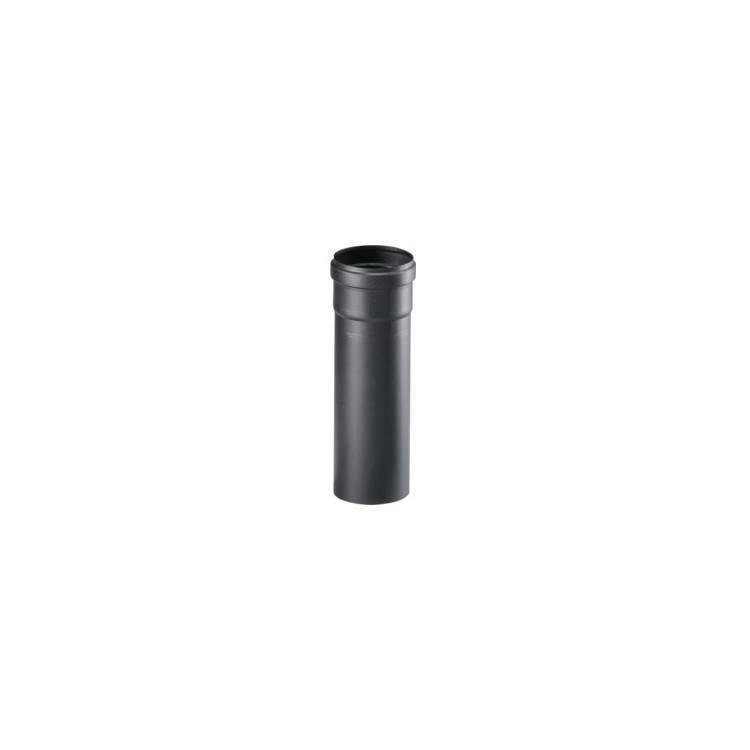 2 x APROS Linea pellet-Tubo lineare uscita fumi T500 (M/F) ø80 in acciaio nero