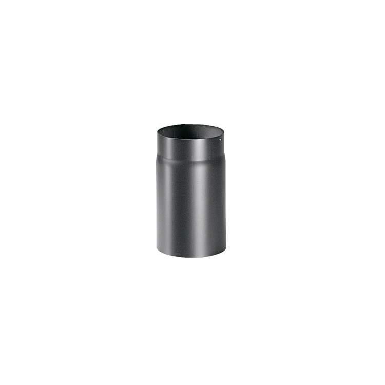 APROS Linea legna-Lineare uscita fumi T100 (M/F) ø150 acciaio alluminato nero