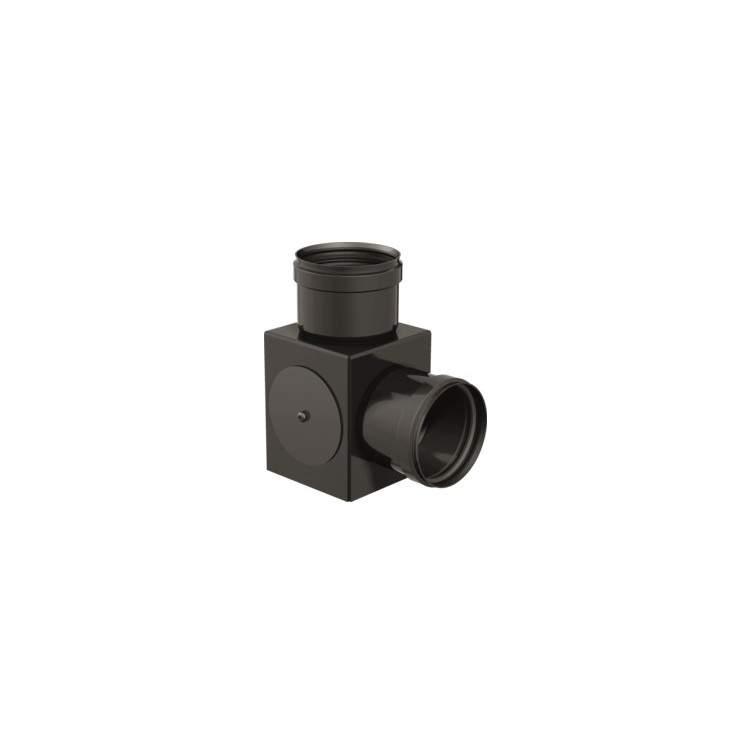 APROS Linea Pellet - Raccordo RACQ ø80 in acciaio nero ad ispezioni multiple.
