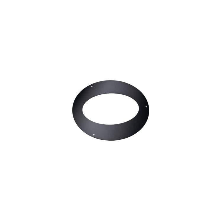 APROS Linea pellet-Rosone ellittico ROEL ø80 acciaio nero per inclinazioni 45°