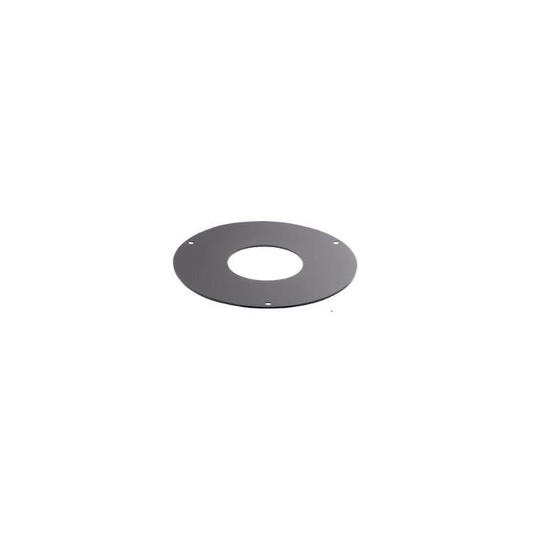 APROS Linea pellet - Rosone di finitura piatto ROS3 ø80 in acciaio nero 3 fori