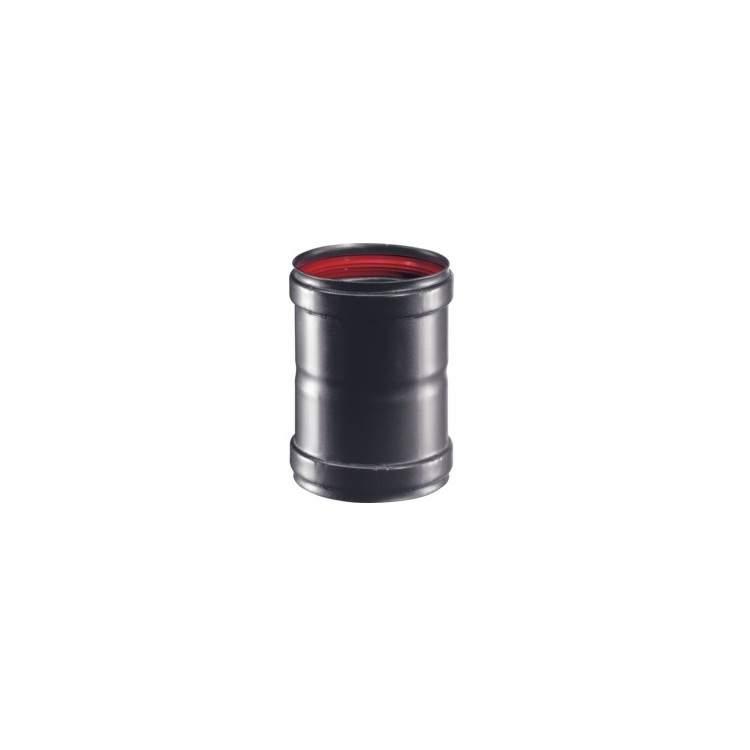 2 x APROS Linea pellet - Manicotto F/F MAFE ø80 nero acciaio nero condotto fumi