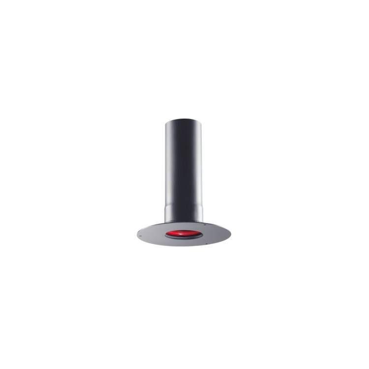 APROS Linea Pellet-Raccordo a muro completo di rosone UNICO ø80 in acciaio nero