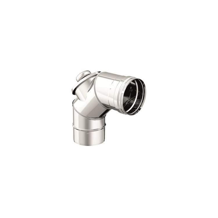APROS Dynamic One-Curva 90° ø80+ispezione acciaio inox monoparete aisi 316L