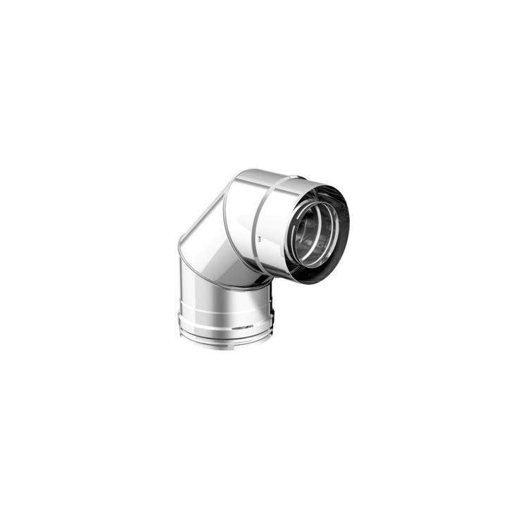 APROS Dynamic Two - Curva C090 90° ø80 acciaio inox doppia parete 316L/304BA