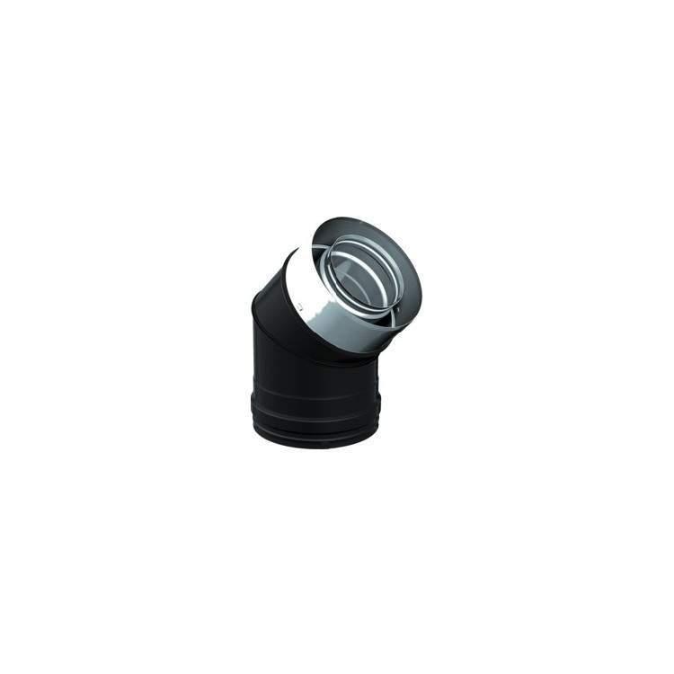 APROS Dynamic Two colore-Curva C045 45° ø80/130 inox/nero o rame doppia parete