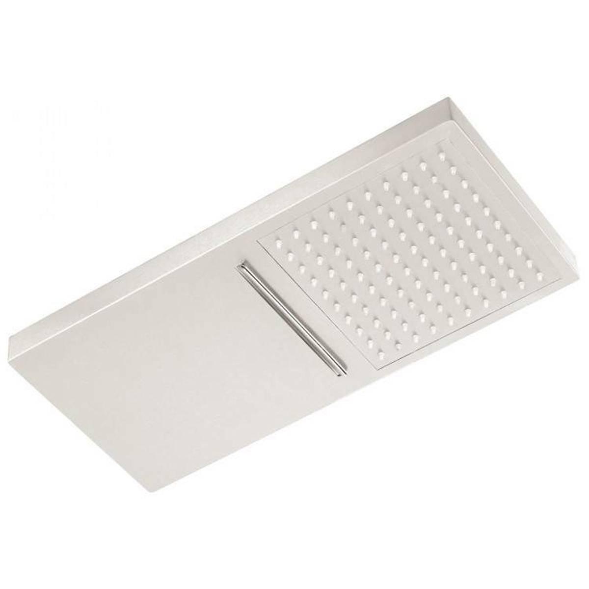 Soffione doccia 23x50 inox304 parete,getti silicone anticalcare cascata + doccia