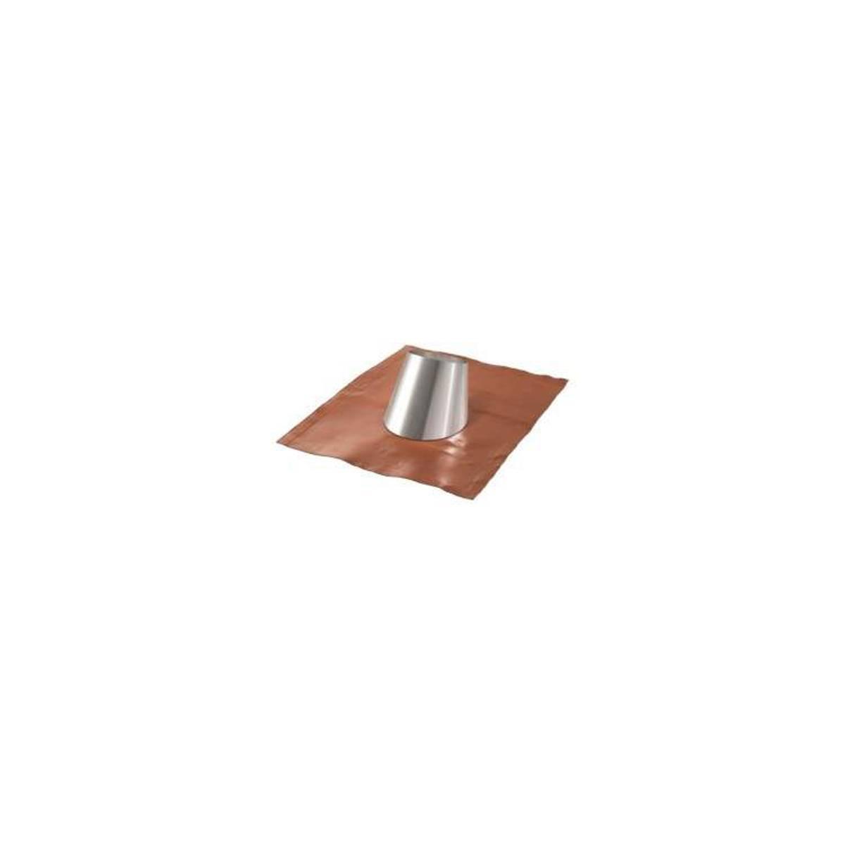 APROS Dynamic One - Faldale inox ø130 per tetti inclinati 33-45° base in gomma