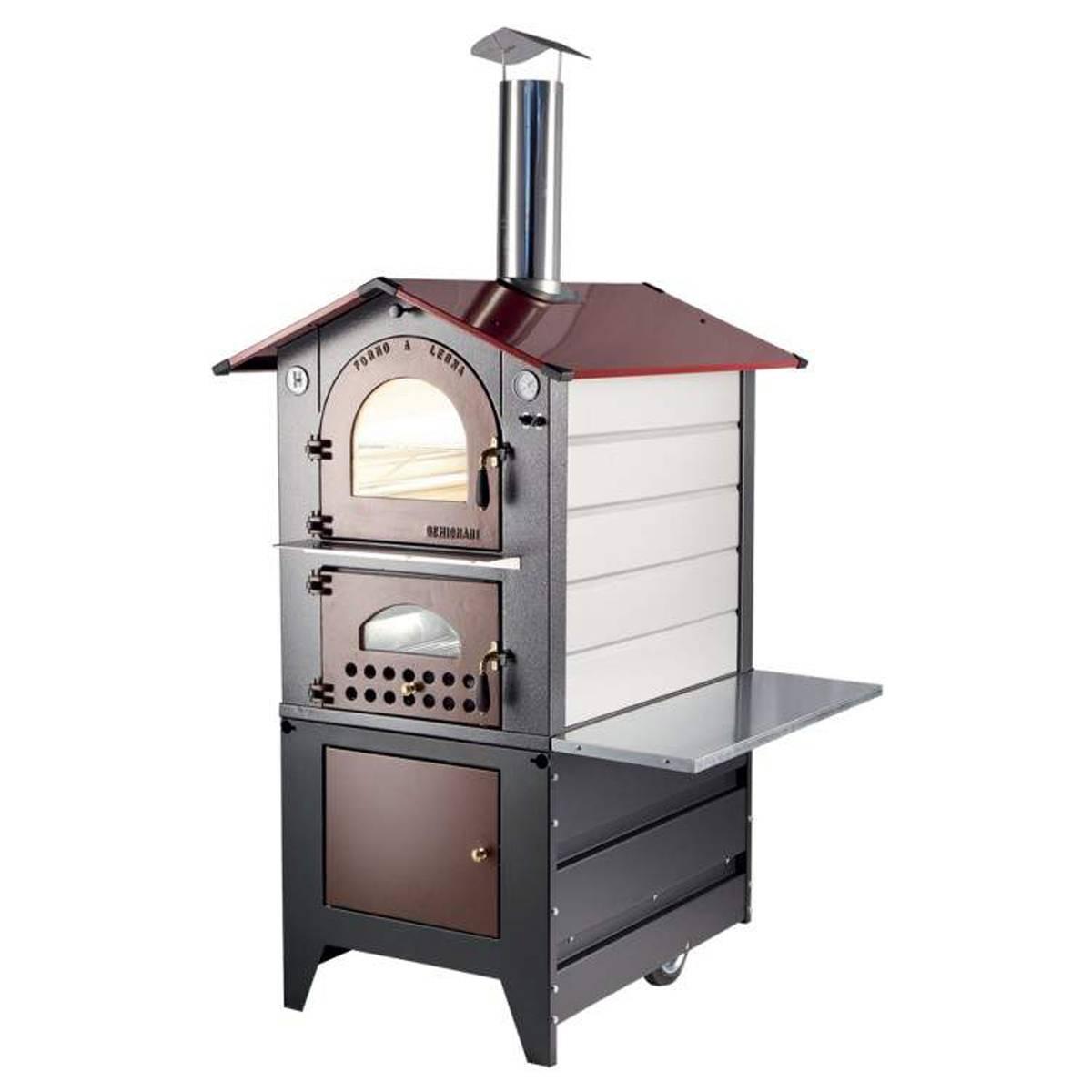 Forno a legna gemignani a fuoco indiretto da esterno mod for Abbattitore fumi forno a legna