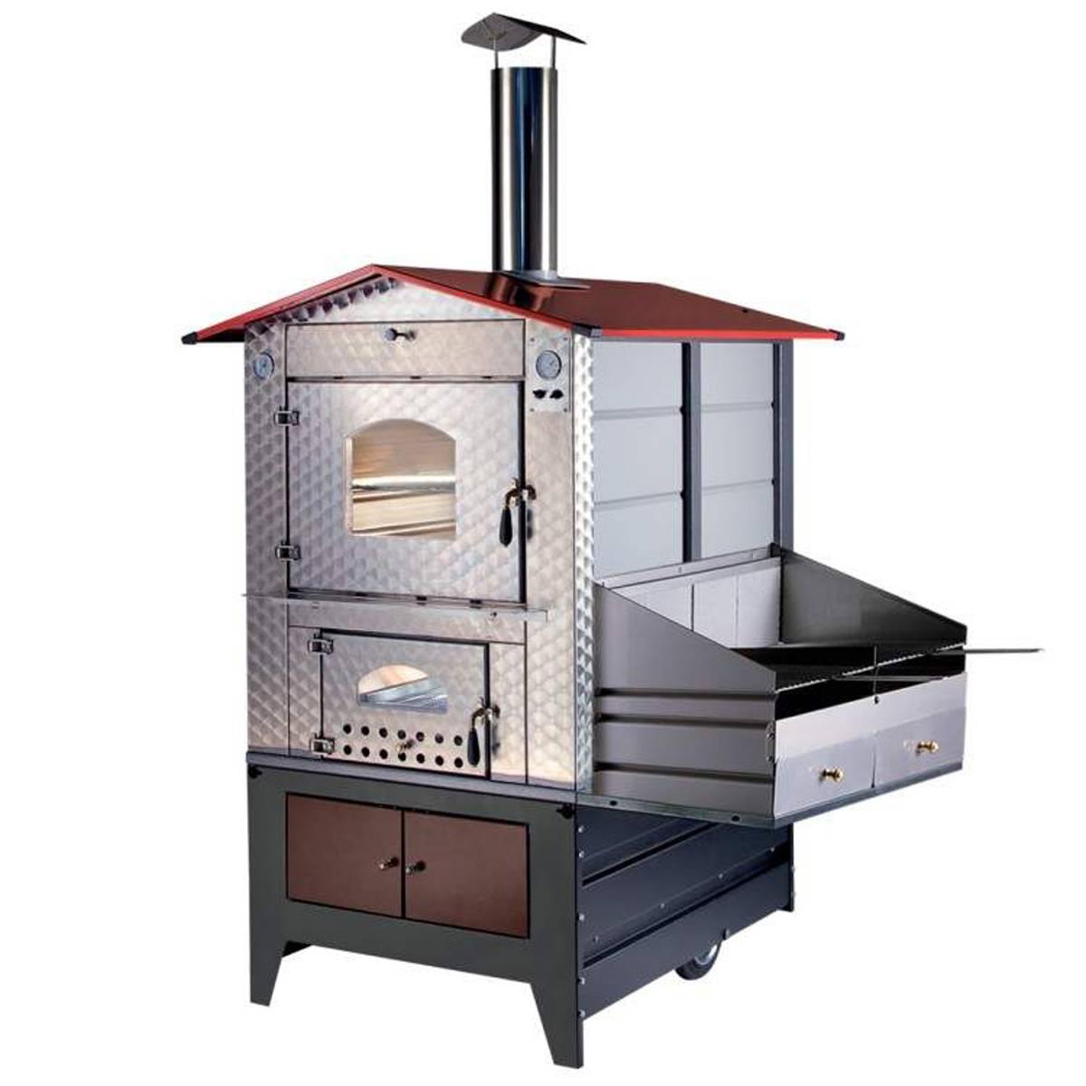 Forno a legna gemignani a fuoco indiretto da esterno mod g100 barbecue quaranta store - Forno a legna per esterno ...