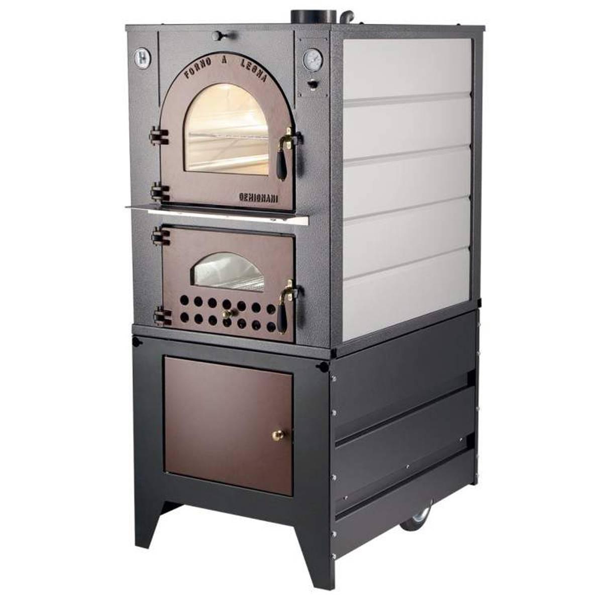 Forno a legna gemignani a fuoco indiretto da interno o incasso mod g90 quaranta store - Forno a incasso a gas ...